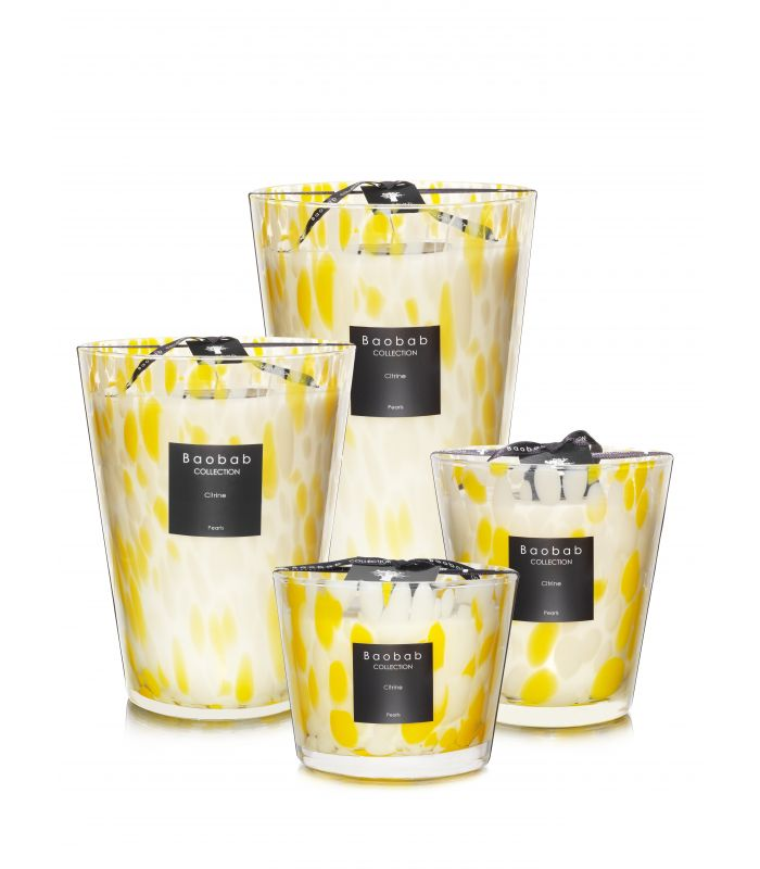 Scented Candles Baobab Collection - Citrine Pearls