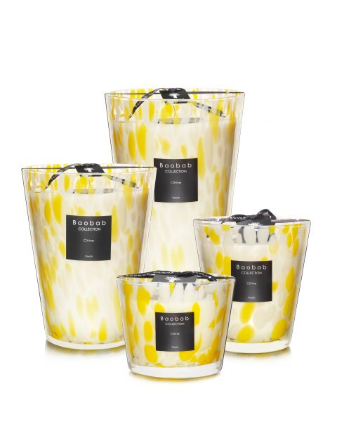 Bougies Parfumees Baobab Collection - Citrine Pearls