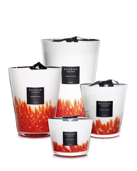 Scented Candles Baobab Collection - Feathers Masaai