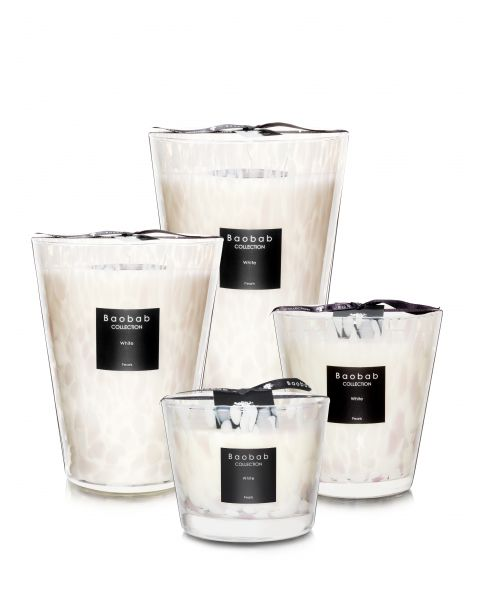 Scented Candles Baobab Collection - White Pearls