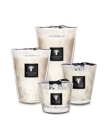 Scented Candles Baobab Collection | White Pearls